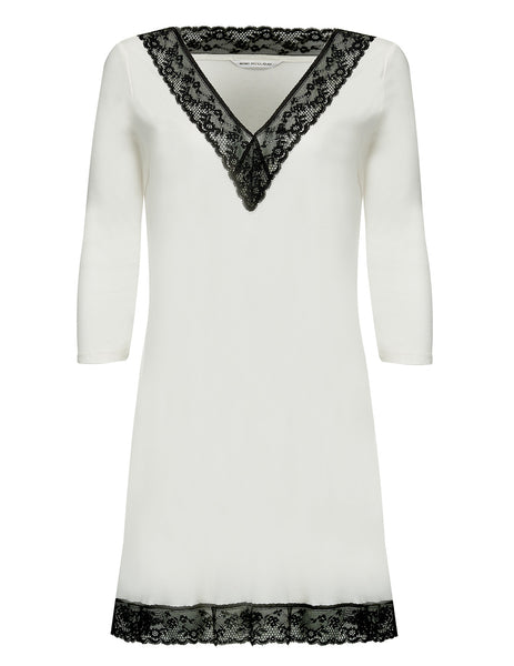 Tunica in Bianco e Nero Mimi Holliday Luxury Nightwear