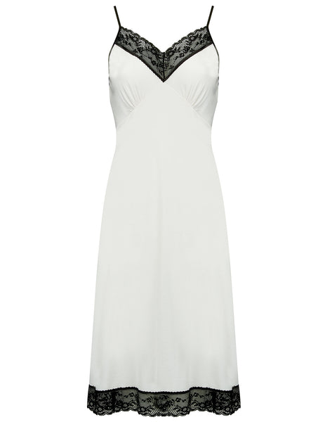 Black & White Nightie Slip | Mimi Holliday Designer Nightwear