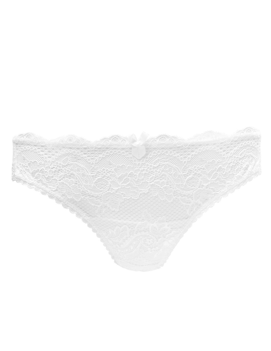 White Lace Bridal Brief Knickers | Mimi Holliday Luxury Lingerie