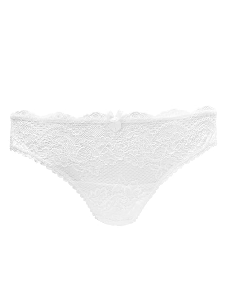 White Blonde Bridal Short Knickers | Mimi Holliday Luxury Lingerie