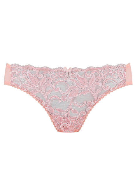 Pink Lace Classic Brief Knickers | Mimi Holliday Luxury Lingerie