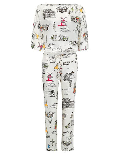 Bottoms Paris Pajama. | Mimi Holliday Designer Loungewear