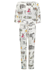 Paris Pajama Bottoms | Mimi Holliday Designer Loungewear