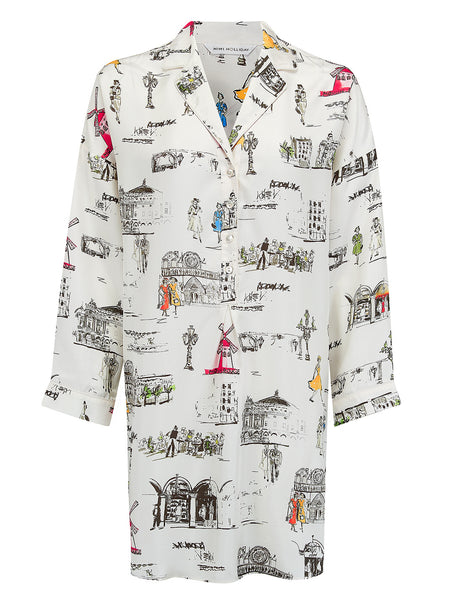 Paris Hvid Nightshirt | Mimi Holliday Designer Nattøj