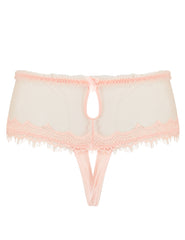Peach Lace Ouvert Knickers | Mimi Holliday Luxury Lingerie