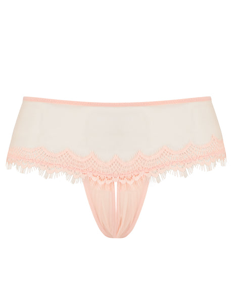 Peach Lace Ouvert Knickers | Mimi Holliday Designer Undertøy