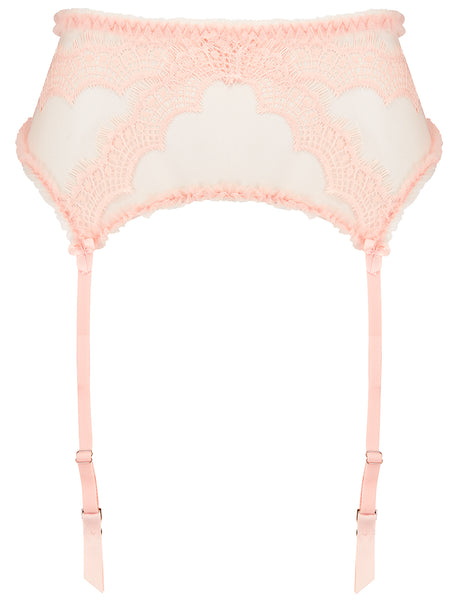 Peach Lace Suspenders | Mimi Holliday Lyxunderkläder