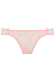 Peach Lace Brief Knickers | Mimi Holliday Luxury Lingerie