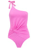 Costume da bagno Sirena Pink One Shoulder - Disegnato da 5pm Swimwear