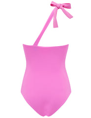 Sirena Pink One Shoulder Swimsuit - Ontworpen door 5pm zwemkleding