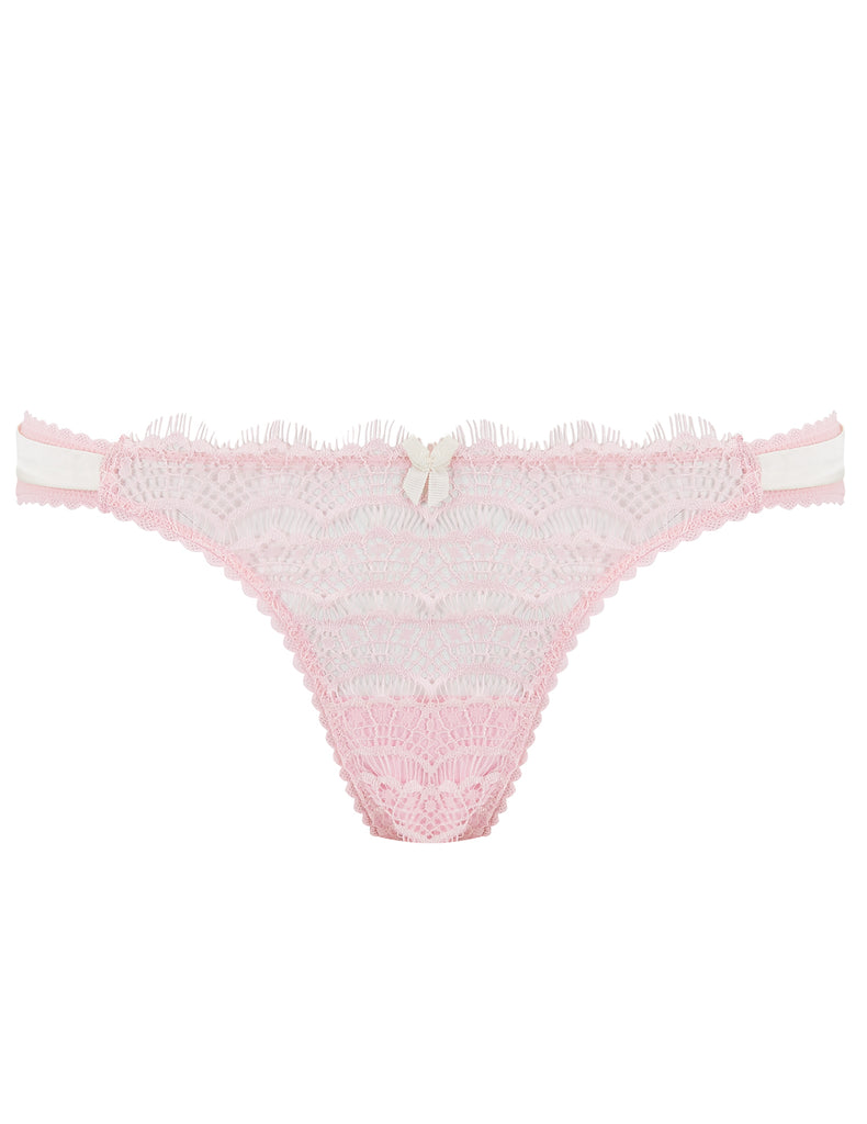 Pink Lace Brief Bow Knickers | Mimi Holliday Luxury Lingerie