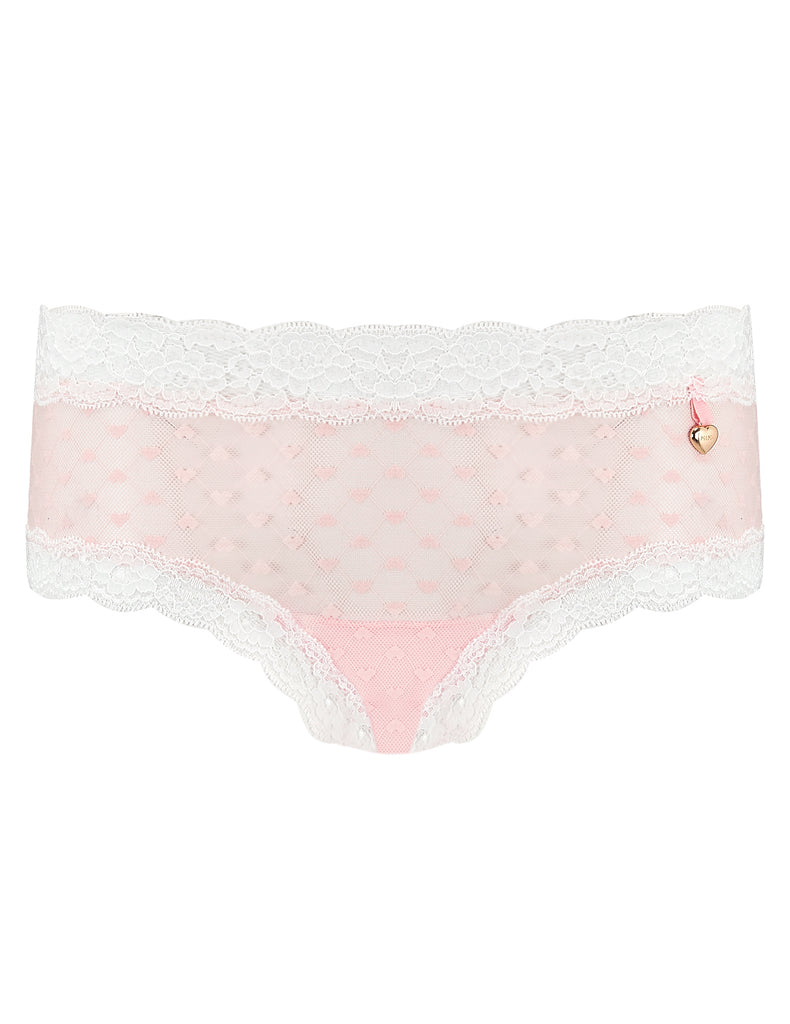 Pink Hearts Lace Briefhöschen | Mimi Holliday Luxus Dessous