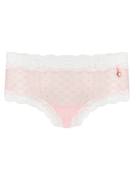Knickerworld | Pink Heart Mesh Back Knickers