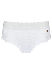 White Leopard Lace Brief Knickers | Mimi Holliday Designer Lingerie