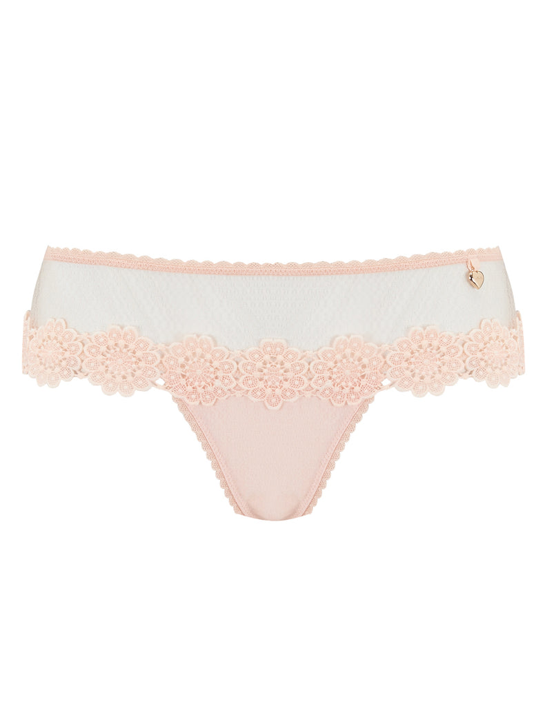 Ferskenblomstret Blonder Boyshort Knickers | Mimi Holliday Luxury Lingerie