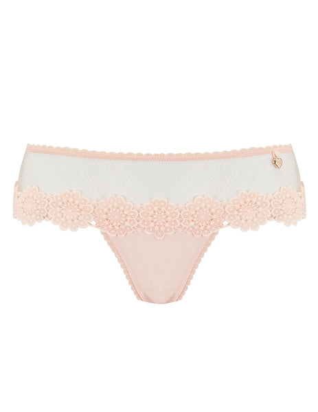Peach Floral Lace Boyshort Knickers | Mimi Holliday Luxury Lingerie