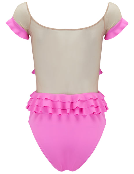 Adella Pink Ruffle Swimsuit - Designed by 5pm Swimwear