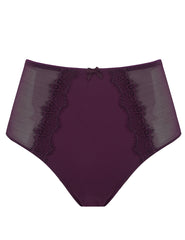 Bisou Bisou Plum Glatte High-Waisted Knickers