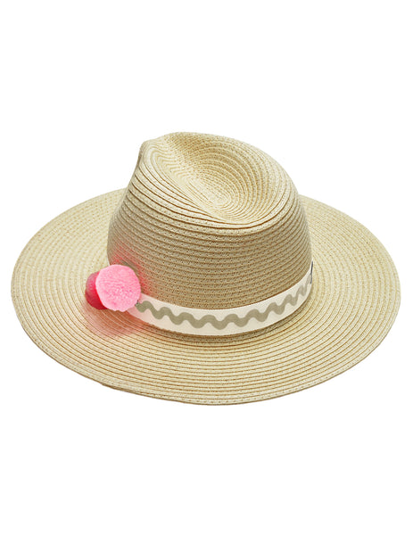 Mimi Traveller Trilby - Natural & Beige Trim