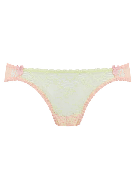 Green & Peach Lace Brief Knickers | Mimi Holliday Luksus Undertøj
