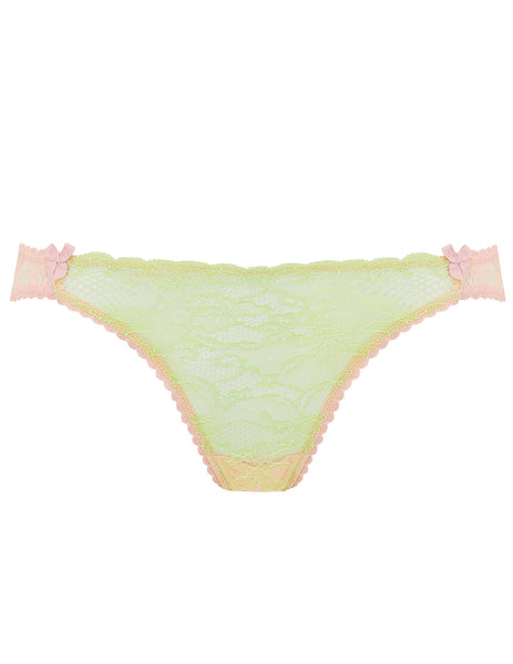 Green & Peach - Spitzenslip mit Schlüpfer | Mimi Holliday Luxus Dessous