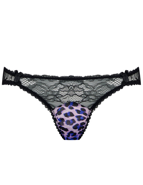 Purple Leopard Brief Knickers | Mimi Holliday Designer Lingerie