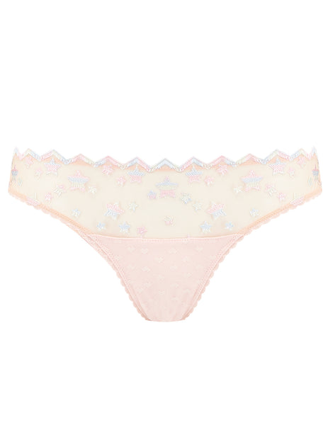 Nude Lace Stars Breve Knickers | Mimi Holliday Designer Lingerie