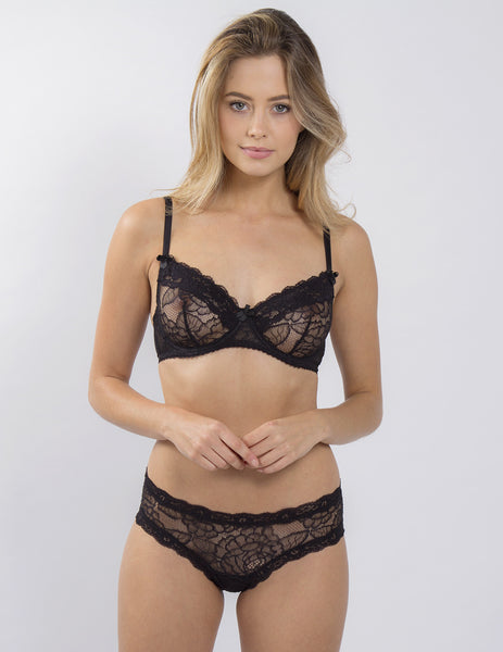 Black Lace Comfort Bra | Mimi Holliday Luxury Lingerie