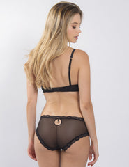 Schwarzer Spitze Nude Padded Push Up BH | Mimi Holliday Luxus Dessous