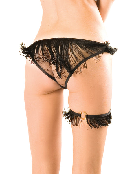 Damaris Vegas Black Tassel Garter
