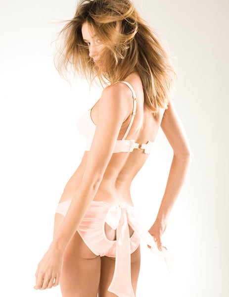 The Iconic Sugar Pink Bow Back Knickers | Damaris Luxury Lingerie
