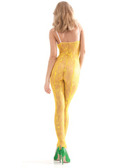 The Alectrona Yellow Catsuit | Damaris Designer Lingerie