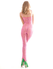 The Aphrodite Pink Catsuit | Damaris Designer Lingerie
