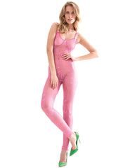 The Aphrodite Pink Catsuit | Damaris Luxury Lingerie