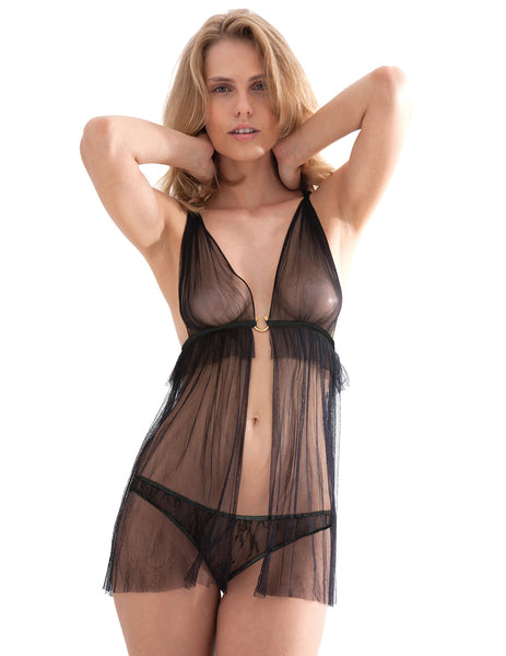 Damaris Hypnos Black Babydoll