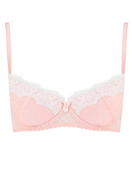 Soutien-gorge push-up rembourré en dentelle rose | Mimi Holliday Luxury Lingerie