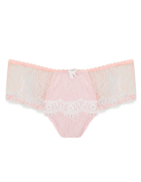 Rosa Spitzen Boyshort Schlüpfer | Mimi Holliday Designer Dessous