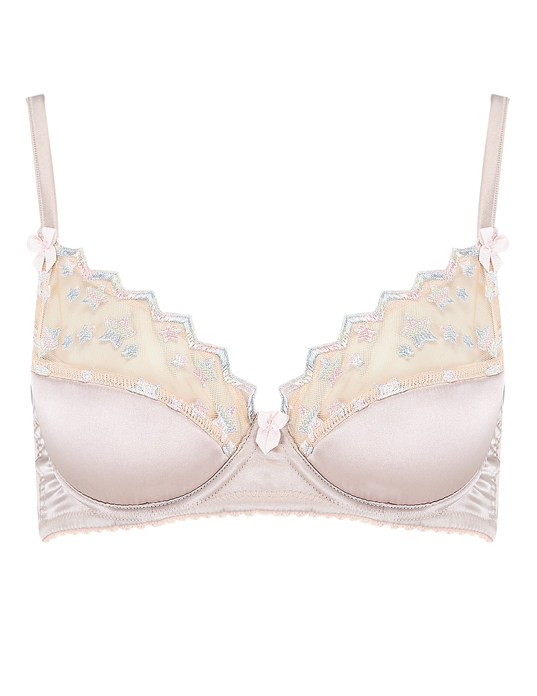 Nude Lace Stars Gepolsterter Push-Up BH | Mimi Holliday Sexy Dessous