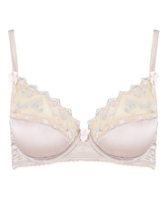 Nude Lace Stars Padded Push-Up Bra | Mimi Holliday Sexy Lingerie