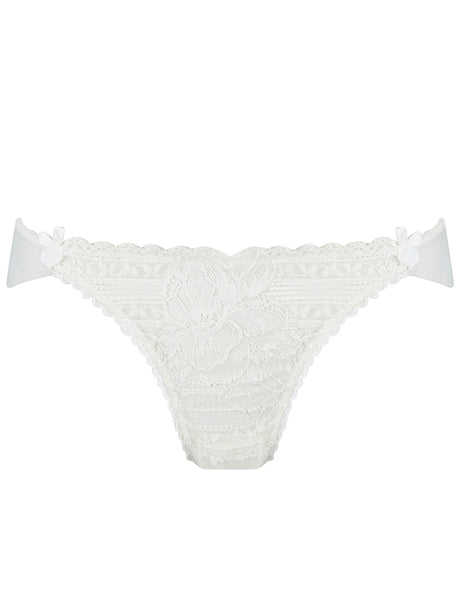 White Floral Lace Brief Knickers | Mimi Holliday Luxury Lingerie