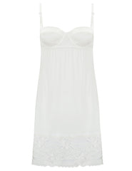 Slip per reggiseno con balconcino in pizzo bianco | Mimi Holliday Luxury Nightwear