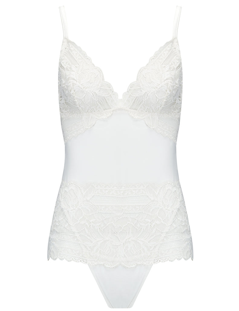 Corpo in pizzo floreale bianco | Mimi Holliday Luxury Lingerie