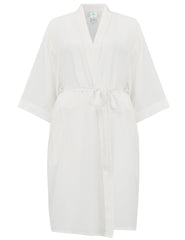 White Silk Dressing Gown | Mimi Holliday Luxury Nightwear