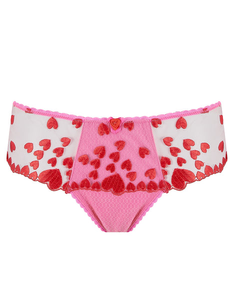 Pink Red Hearts Boyshort Knickers | Mimi Holliday Designer Lingerie