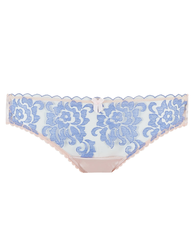 Blue Floral Lace Short Knickers | Mimi Holliday luksoze femrash