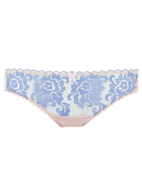 Blue Floral Lace Brief Knickers | Mimi Holliday Luxury Lingerie