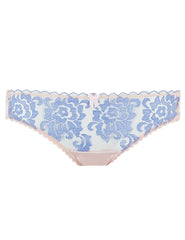 Blå Blomstersnip Kort Knickers | Mimi Holliday Luxury Lingerie