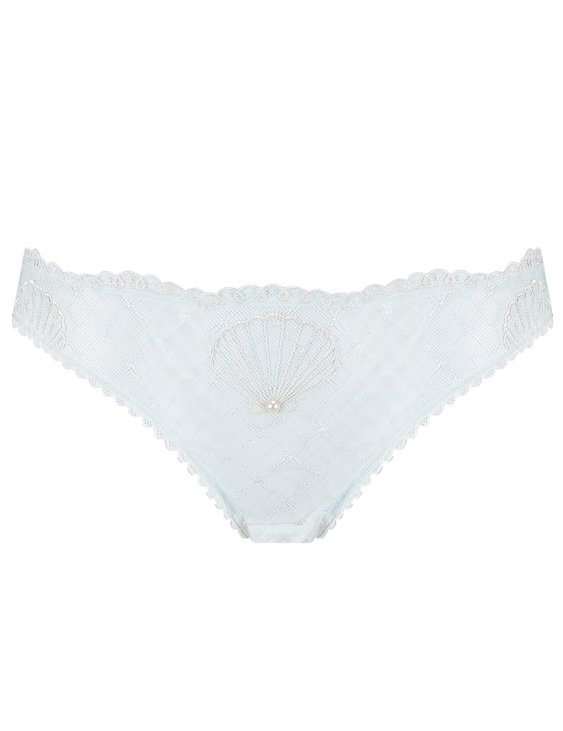 Hvit Lace Skjerf Kort Knickers | Mimi Holliday Luxury Lingerie