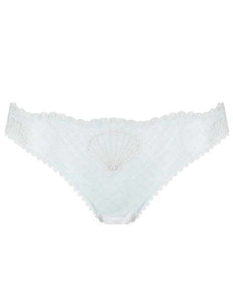 Laço Branco Seashell Brief Knickers | Lingerie de luxo Mimi Holliday