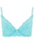 Aqua Blue Lace Padded Push Up Bra | Mimi Holliday Luxury Lingerie